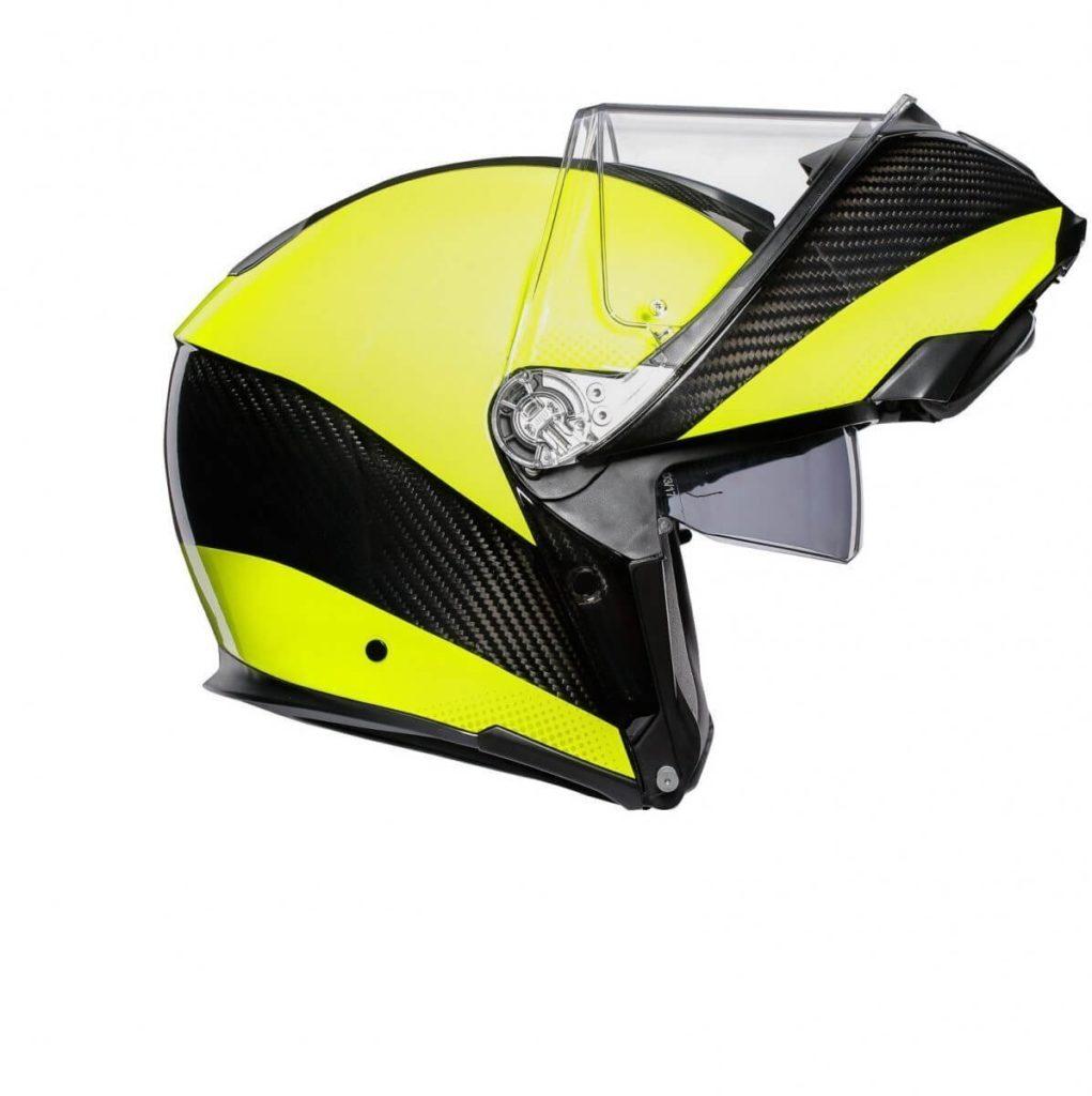 AGV Sportmodular PLK Carbon Yellow Kask Szczękowy