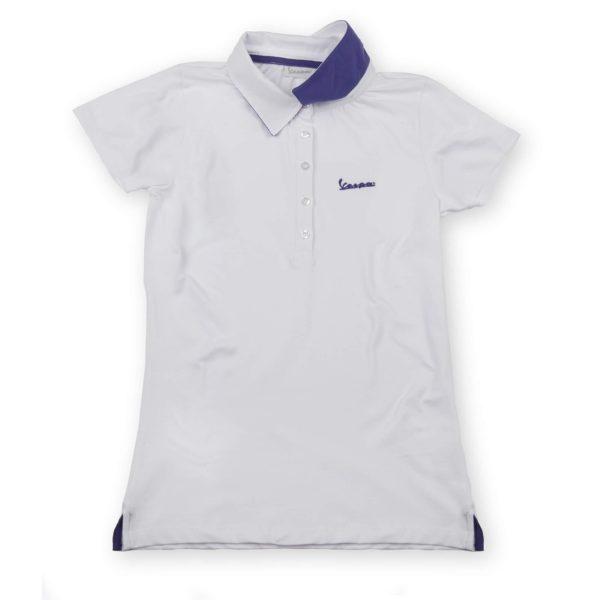 VESPA Polo Damska Biała Koszulka Damska