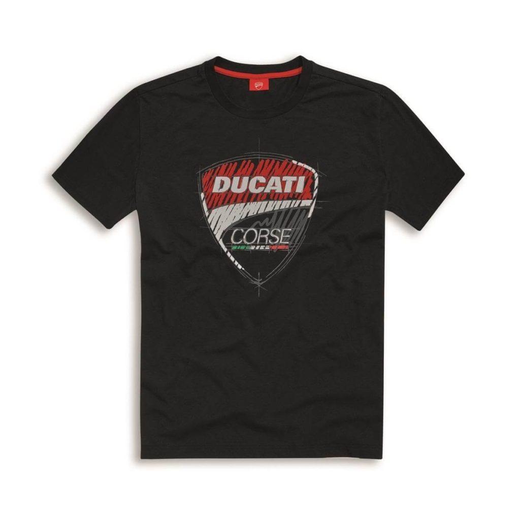 DUCATI koszulka T-Shirt Corse Sketch Black