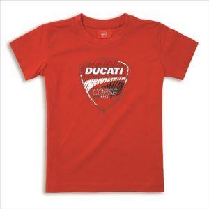 DUCATI Koszulka T-Shirt Corse Sketch Red KID