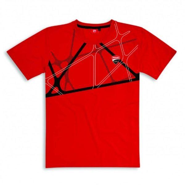 DUCATI Koszulka T-Shirt Graphic Net Red