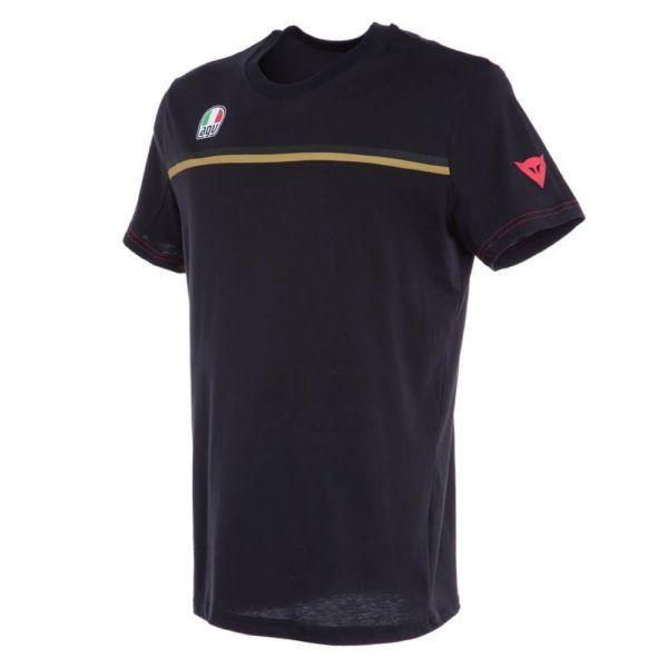 DAINESE T-Shirt Męski Fast 7 885 Black/Gold
