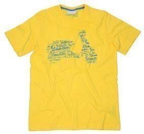 VESPA T-Shirt Logo Żółta Koszulka Męska
