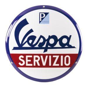 VESPA Emblemat Blaszany Servizio