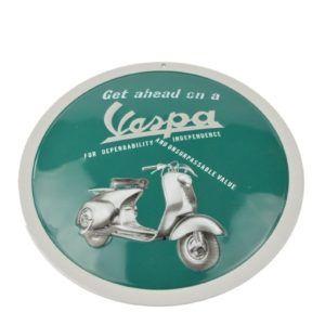 VESPA Emblemat Blaszany Go Ahead