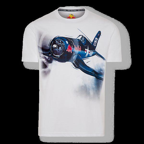 RED BULL T-Shirt Męski The Flying Bulls Corsair White
