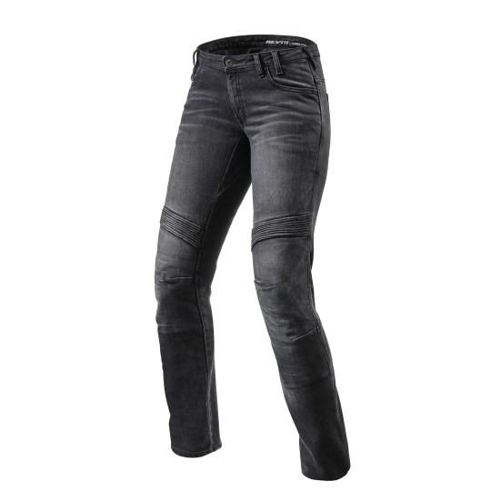 REVIT Spodnie Jeansowe Damskie Moto Black