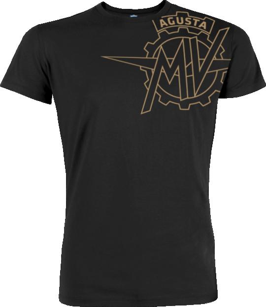 MV AGUSTA T-Shirt Vintage Logo MV19 Black Koszulka Męska