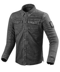 REVIT Koszula Jeansowa Męska Hudson Dark Grey