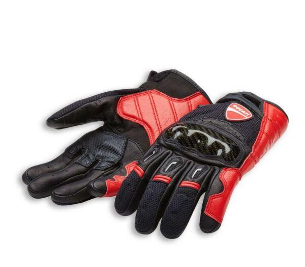 DUCATI Rękawice Skórzano-Tekstylne Company C1 Black/Red