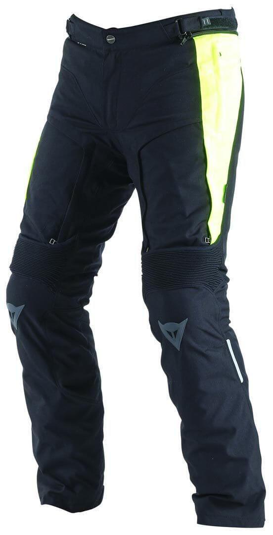 DAINESE Spodnie Tekstylne Męskie D-Stormer D-Dry Black/Fluo-Yellow
