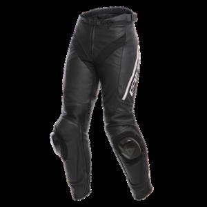 DAINESE Spodnie Skórzane Damskie Delta 3 Black/White