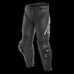 DAINESE Spodnie Skórzane Męskie Delta 3 Long Black/White