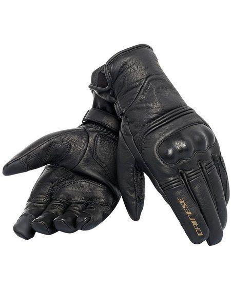DAINESE Rękawice Skórzane Unisex Corbin D-Dry Black