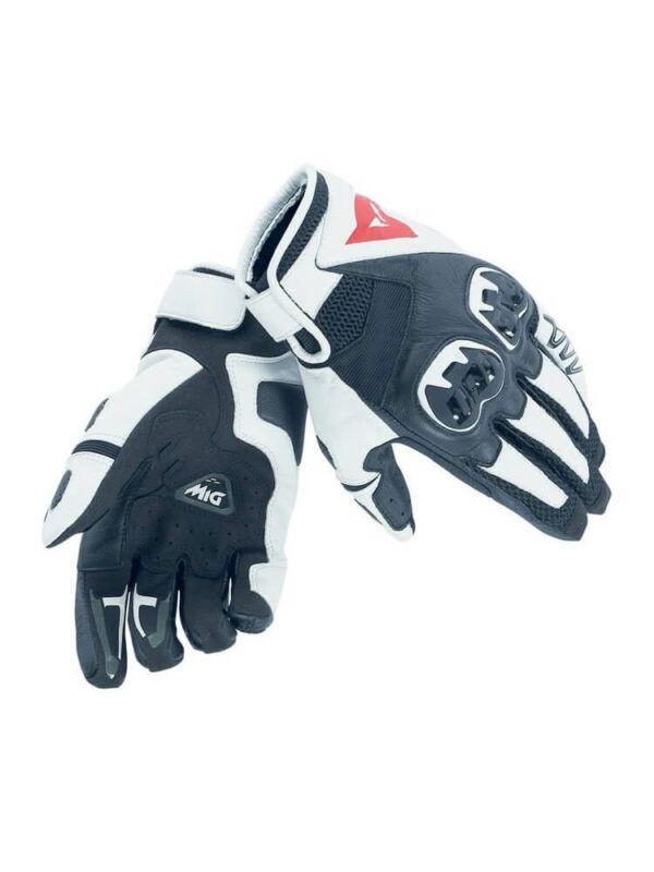 DAINESE Rękawice Skórzane Unisex Mig C2 Black/White