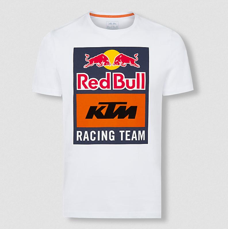 RED BULL KTM Racing Emblem White T-shirt 2020 Koszulka Męska