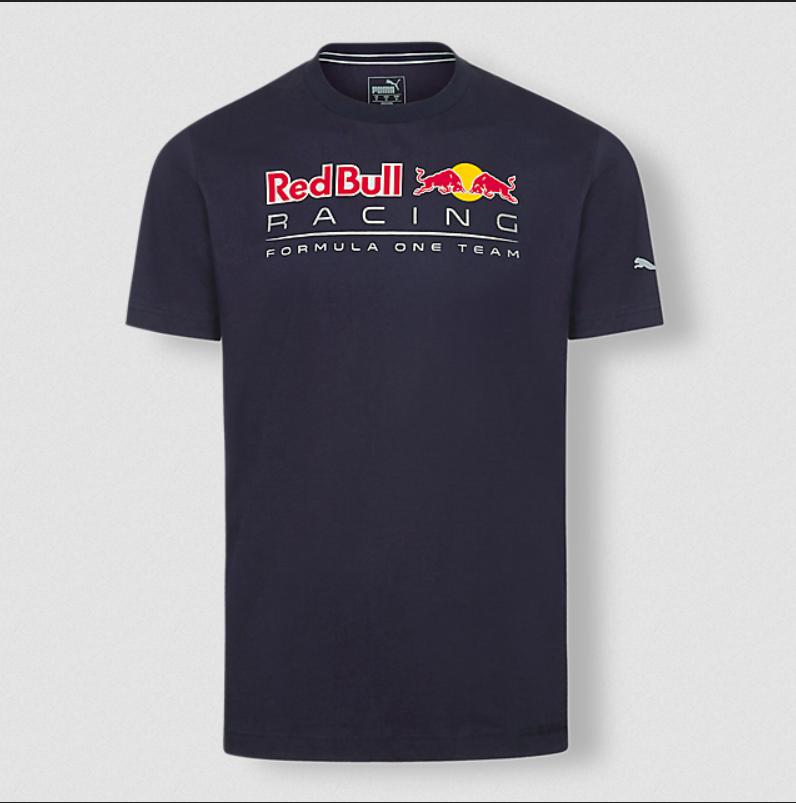 RED BULL Racing Logo T-Shirt 2020 Granatowa Koszulka Męska