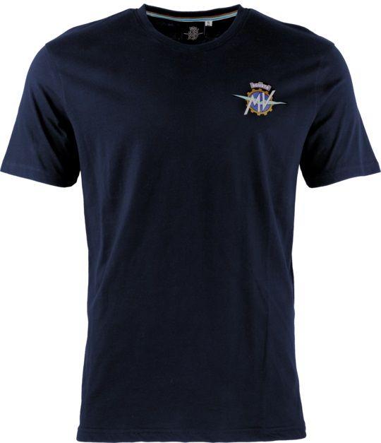 MV AGUSTA T-Shirt Round Neck Blue Koszulka Męska