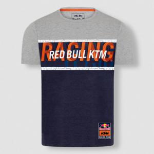 RED BULL T-Shirt Męski KTM Racing Team Letra Grey/Navy