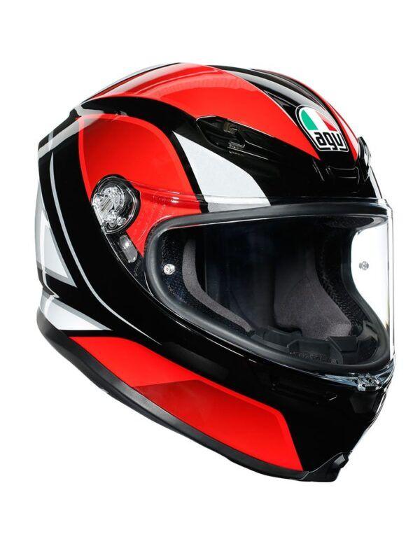 AGV Kask Integralny K6 Hyphen Black/Red/White