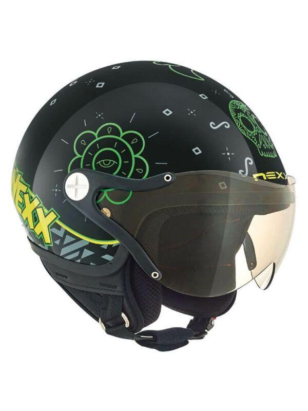 NEXX Kask Otwarty Dziecięcy SX 60 Goomy Black/Green