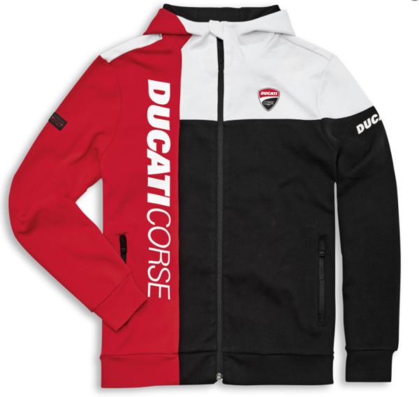 DUCATI Bluza DC Track Biała/Czerwona/Czarna