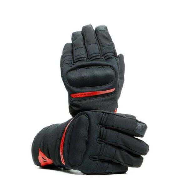 DAINESE Rękawice Motocyklowe Unisex Avila D-Dry Black/Red