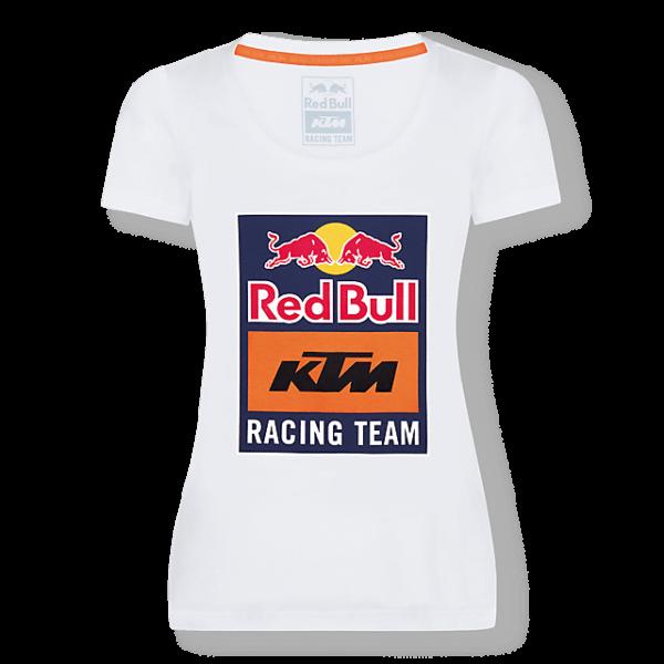 RED BULL T-Shirt Damski KTM Racing Team Emblem White