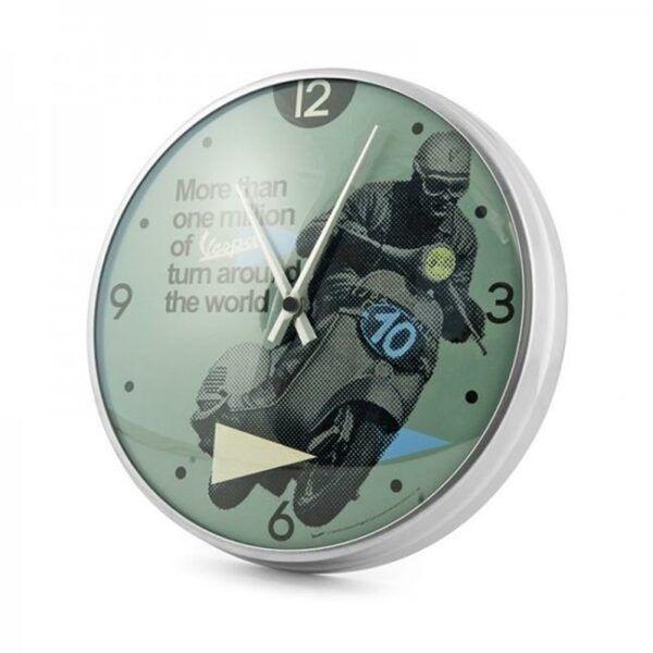 VESPA Zegar Ścienny Zielony