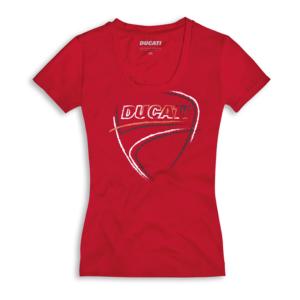 DUCATI T-Shirt Damski Heartbeat Red