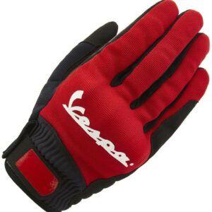 VESPA Rękawice Modernist Czerwone
