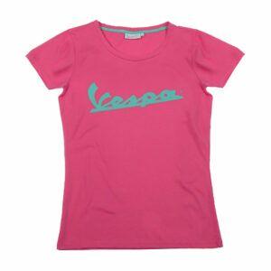 VESPA T-Shirt Logo Różowa Koszulka Damska