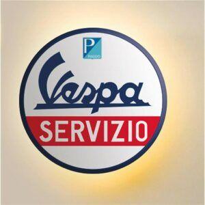 VESPA Emblemat Servizio LED