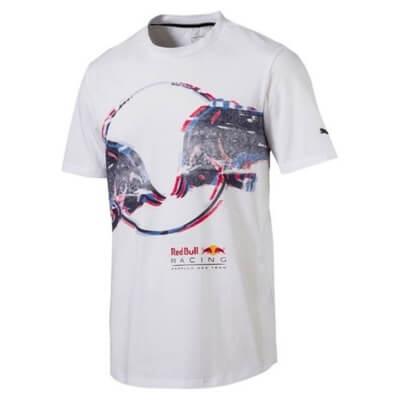 RED BULL Racing Tilt T-shirt Koszulka Męska Biała