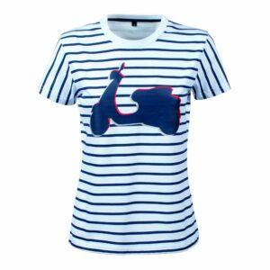 VESPA T-Shirt Damski Graphic Paski