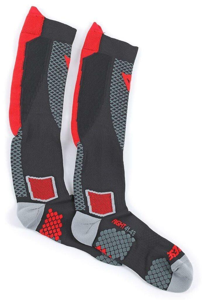 DAINESE Skarpety Wysokie Unisex D-Core Black/Red