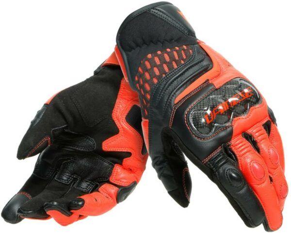 DAINESE Rękawice Skórzane Męskie Krótkie Carbon 3 Black/Red