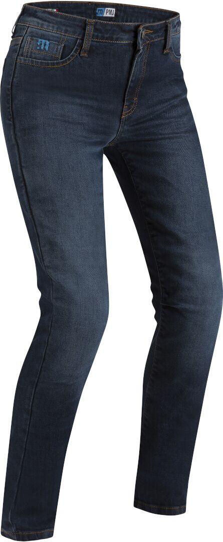 PMJ Spodnie Jeansowe Damskie Caferacer Blue