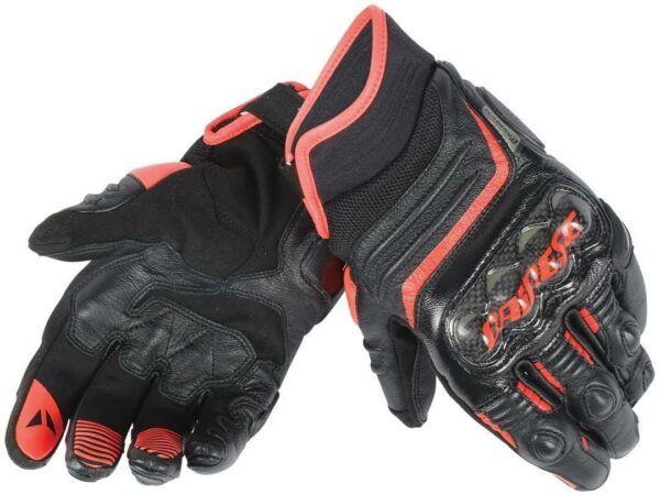 DAINESE Rękawice Skórzane Męskie Krótkie Carbon D1 Black/Red