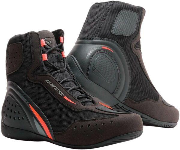 DAINESE Buty Męskie Krótkie Motorshoe D1 Black/Fluo Red