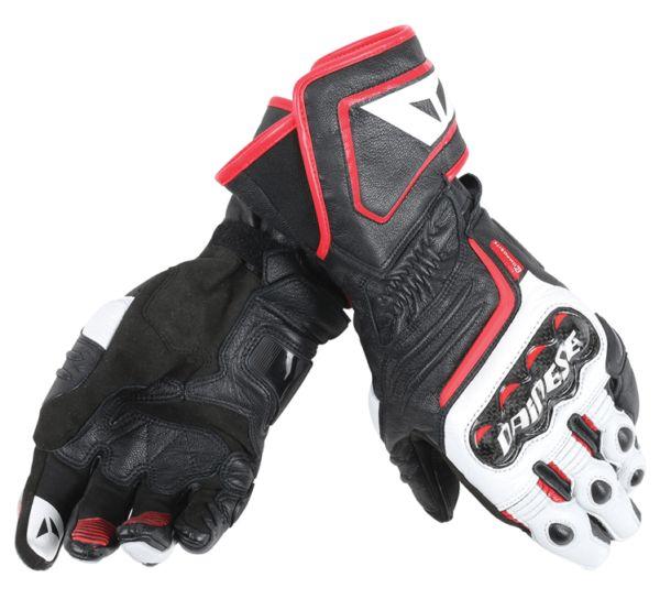 DAINESE Rękawice Skórzane Męskie Długie Carbon D1 Black/White/Red