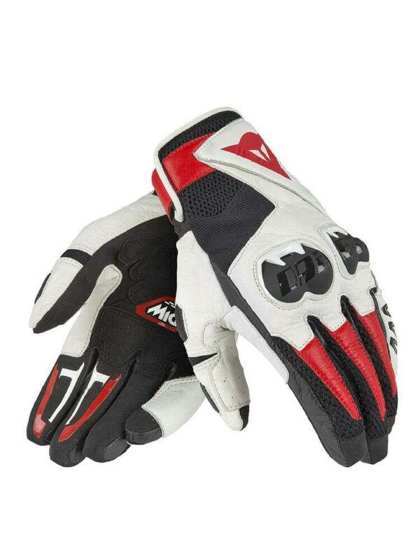 DAINESE Rękawice Skórzane Unisex Mig C2 Black/White/Lava Red