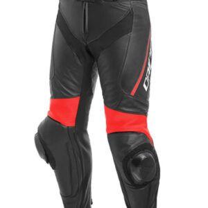 DAINESE Spodnie Skórzane Męskie Delta 3 Black/Red