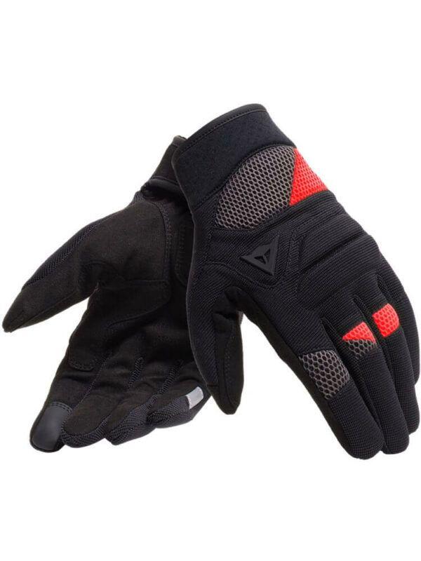 DAINESE Rękawice Tekstylne Unisex Krótkie Fogal Black/Red