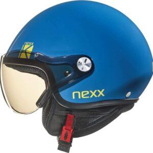 NEXX Kask Otwarty Dziecięcy SX 60 K Blue Explosion