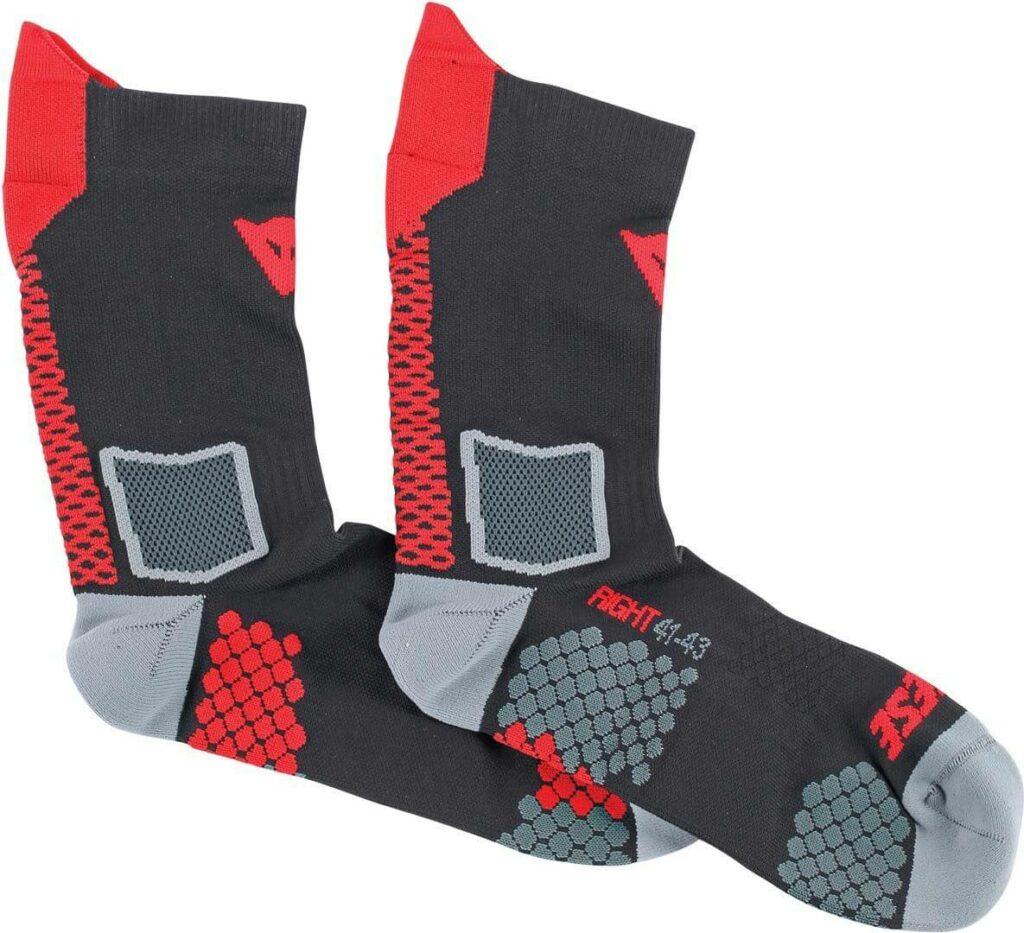 DAINESE Skarpety Średnie Unisex D-Core Black/Red