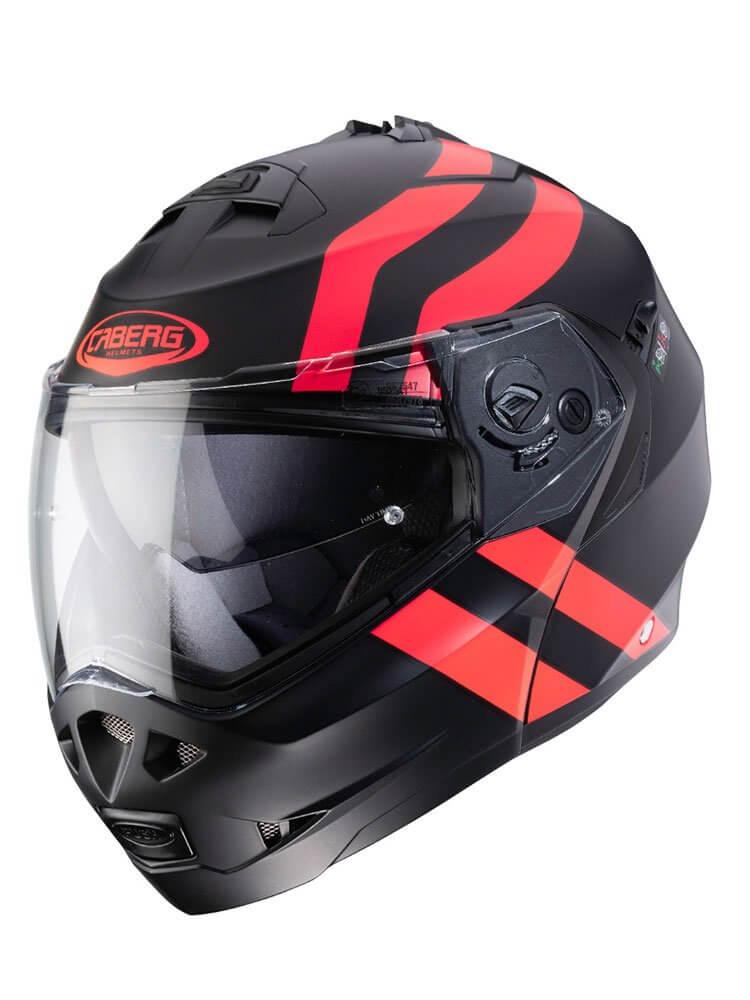 CABERG Kask Szczękowy Duke II Superlegend Black/Red