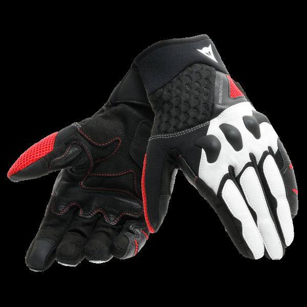 DAINESE Rękawice Skórzane Męskie X-Moto Black/Red/White