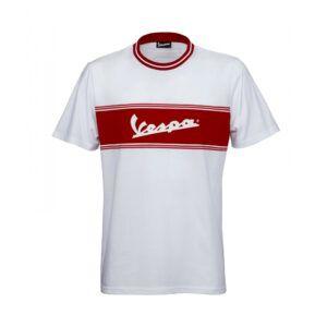VESPA T-Shirt Męski Racing Sixties Biały