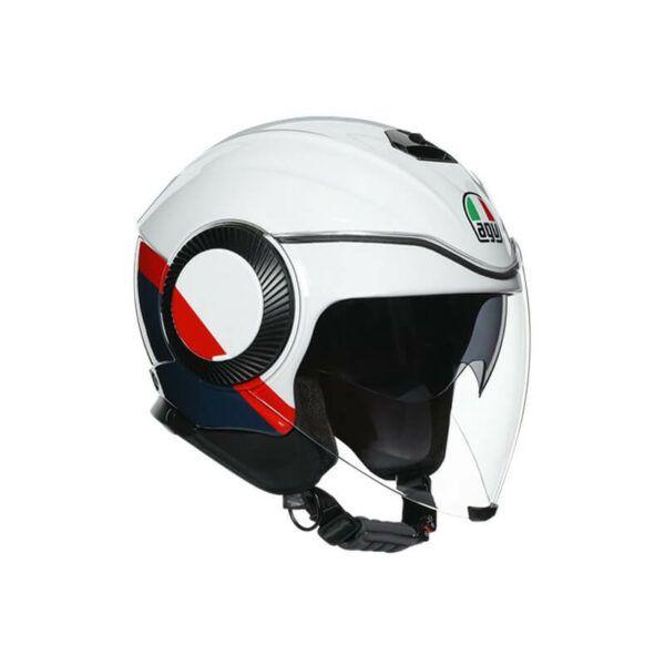 AGV Kask Otwarty Orbyt Pearl White/Ebony/Red